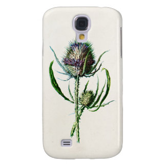 Vintage 1902 Old Scottish Thistle Wild Flower Galaxy S4 Case