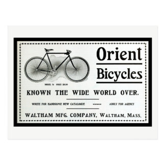Vintage 1902 Orient bicyles ad Postcard
