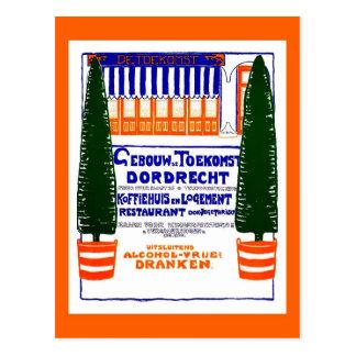 Vintage 1904 Dutch coffeehouse Dordrecht ad Post Cards