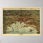 Vintage 1905 Boston View / Map Poster