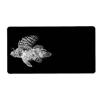 Vintage 1905 Lionfish Scorpionfish Black Lion Fish