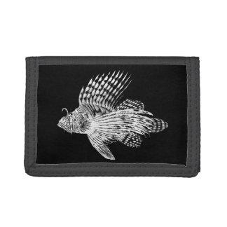 Vintage 1905 Lionfish Scorpionfish Black Lion Fish Trifold Wallet