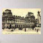 Vintage 1905 Louvre, Paris, France Poster