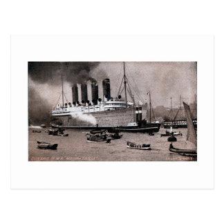 Vintage 1909 RMS Mauretania photo gravure Postcard