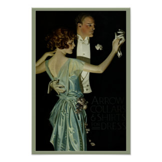 Vintage 1910's Fashion 'Arrow Collar' Poster