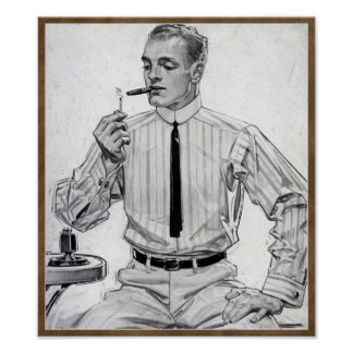 Vintage 1912 Mens Fashion 'Arrow Collar' Poster