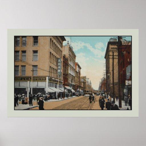 Vintage 1914 Queen Street, Toronto, Canada Poster