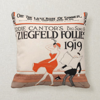 Vintage 1919 Ziegfeld Follies Pillow