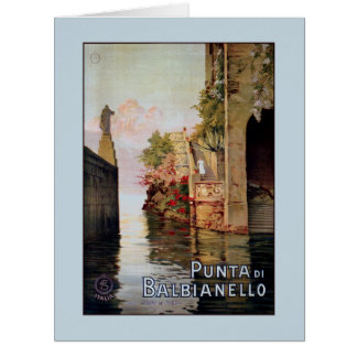 Vintage 1920 Lake Como Lenno Italian travel advert Big Greeting Card