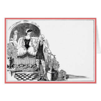 Vintage 1920's 18th Century Revival Valentine Card