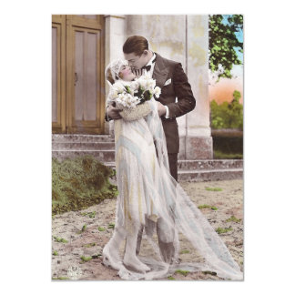 Vintage 1920s Art Deco Bride and Groom Photo Card