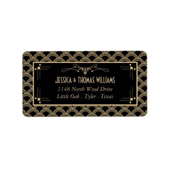 Vintage 1920's Art Deco Gatsby Wedding Collection Address Label