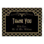 Vintage 1920's Art Deco Gatsby Wedding Collection Note Card