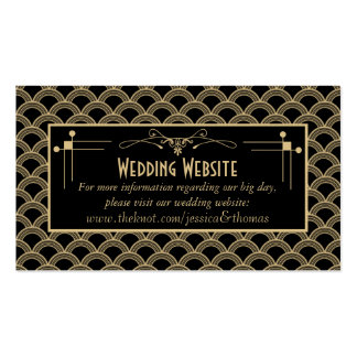 Vintage 1920's Art Deco Gatsby Wedding Collection Pack Of Standard Business Cards