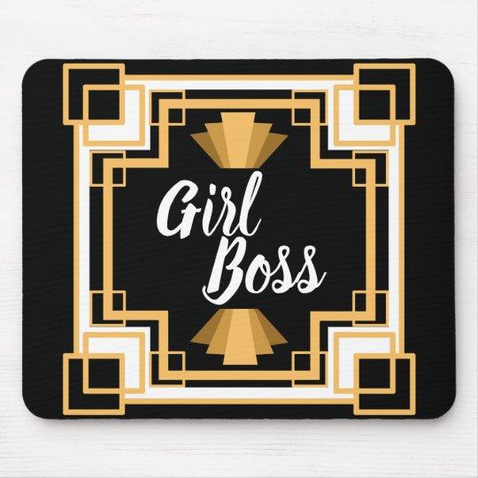 Vintage 1920s Art Deco Girl Boss Mouse Mat