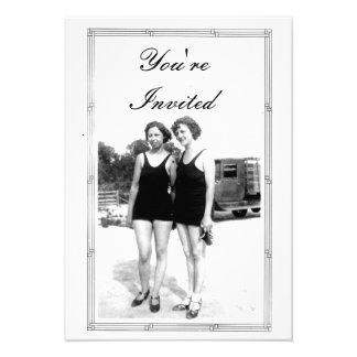 Vintage 1920s Beach Party Announcements