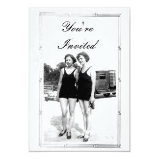 Vintage 1920s Beach Party 9 Cm X 13 Cm Invitation Card