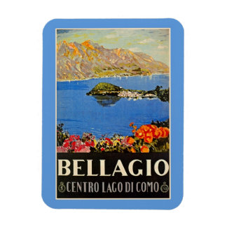 Vintage 1920s Bellagio Italian travel advert Flexible Magnets
