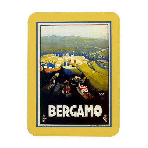 Vintage 1920s Bergamo Italian travel Flexible Magnet