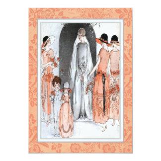 Vintage 1920s Illustration Bridal Party Shower 13 Cm X 18 Cm Invitation Card