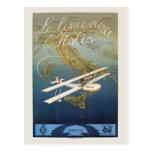 Vintage 1920s island plane shuttle Italian travel