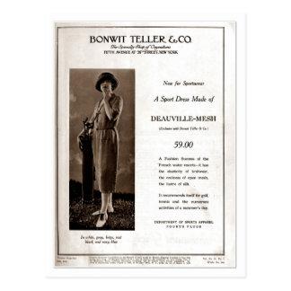 Vintage 1920s ladies fashion ad: women's golf wear postcards