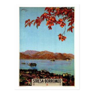Vintage 1920s Lake Maggiore Stresa Italian travel Postcard