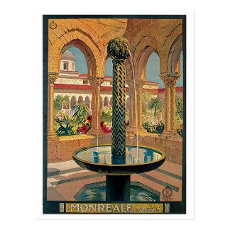 Vintage 1920s Monreale Italian travel ad Postcard