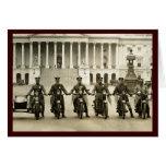 Vintage 1920s Motorcycle Cops Greeting Cards