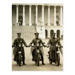 Vintage 1920s Motorcycle Cops Post Card