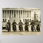 Vintage 1920s Motorcycle Cops Posters