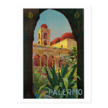 vintage 1920s Palermo Sicily travel ad Post Cards