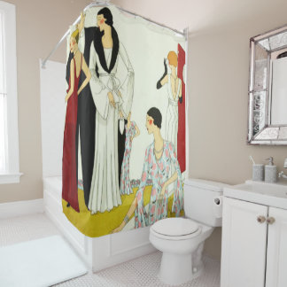 Vintage 1920s Party Print Shower Curtain