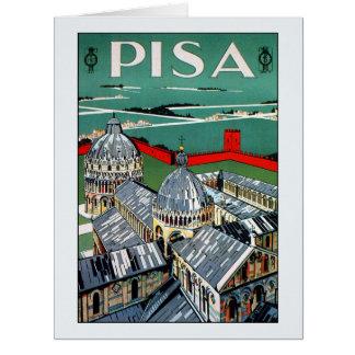 Vintage 1920s Pisa Italian travel Big Greeting Card