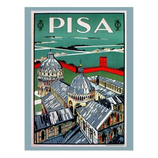 Vintage 1920s Pisa Italian travel Postcard