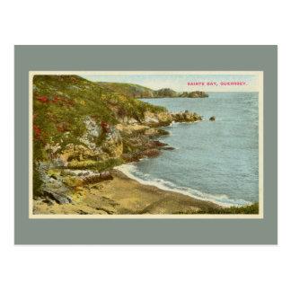 Vintage 1920s Saints Bay, Guernsey Channel Islands Postcard