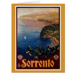 Vintage 1920s Sorrento Italian travel Big Greeting Card