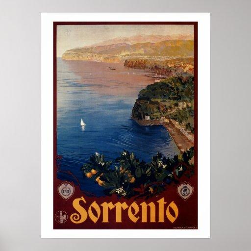 Vintage 1920s Sorrento Italian travel Poster