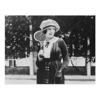 Vintage 1920s Tennis Fashion Post Card