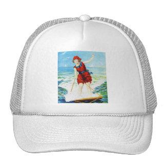 Vintage 1920s Wakeboarder Hat