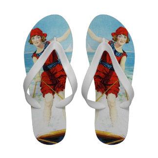Vintage 1920s Wakeboarder Sandals