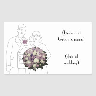 Vintage 1920s Wedding Sticker