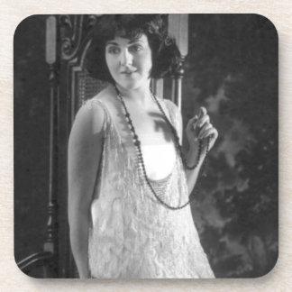 Vintage 1920s Women's Flapper Fashion Coaster