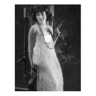 Vintage 1920s Women's Flapper Fashion Postcard