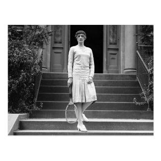 Vintage 1920s Women's Tennis Fashion Postcard