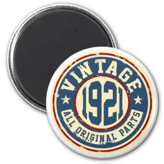 Vintage 1921 All Original Parts 6 Cm Round Magnet