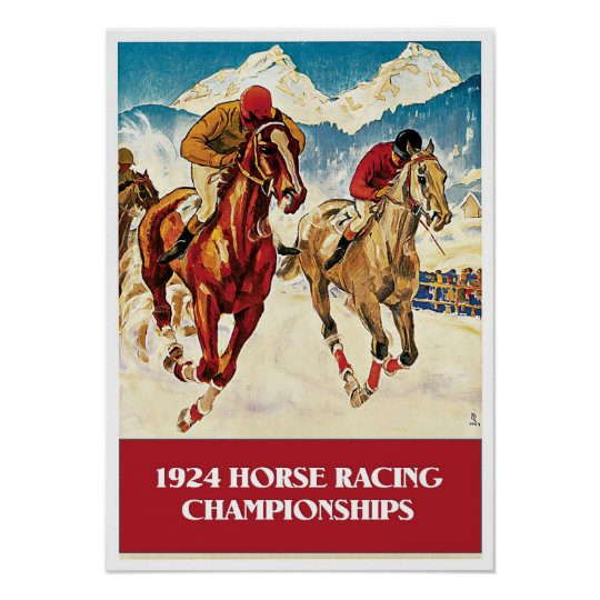 Vintage 1924 Horse Racing ad Poster