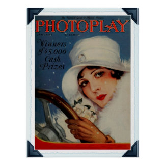 Vintage 1927 Hollywood movie magazine cover Poster
