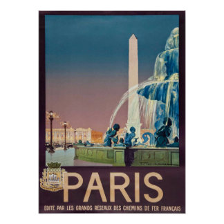 Vintage 1930 Paris Travel Poster