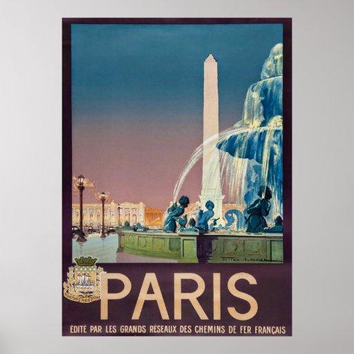 Vintage 1930 Paris Travel Poster